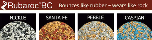 Rubaroc Surfacing Bounces like rubber - wears like rock