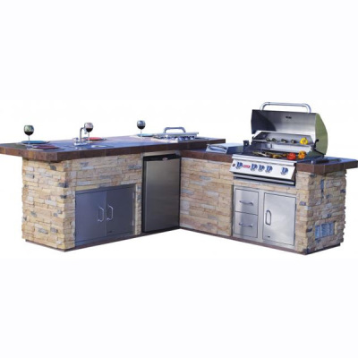 Gourmet Q Outdoor Island Kitchen