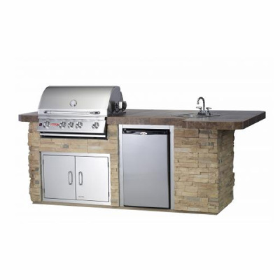 BBQ Outdoor Island Kitchen