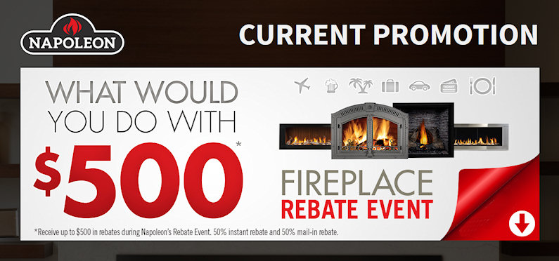 Napoleon Fireplace Rebate Event