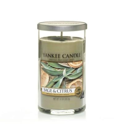 Sage-Citrus Pillar Candle
