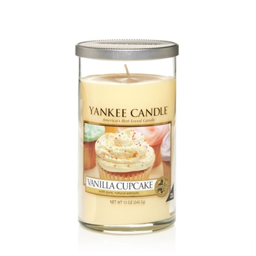 Vanilla Cupcake Medium Pillar Candle