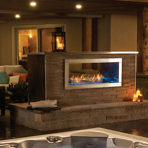 See thru gas fireplace decked out home and patio for See thru fireplaces