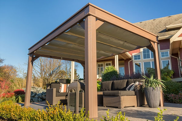 Shade coverings decked out home and patio - Enclosed gazebo models ...