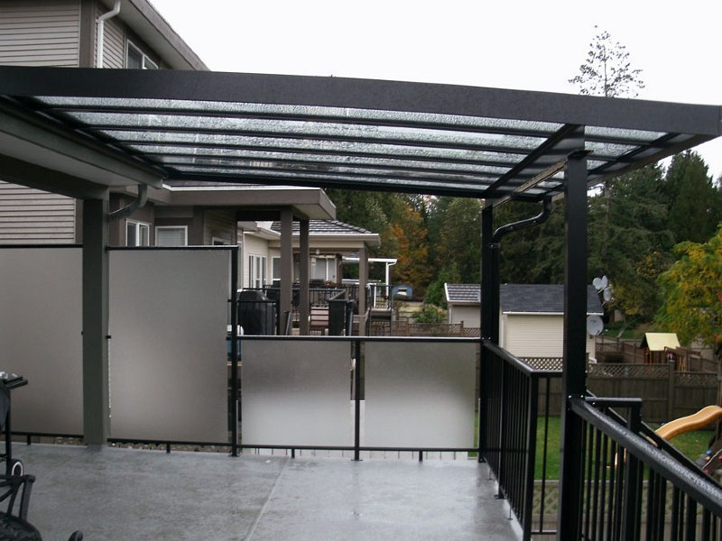 Aluminum patio covers decked out home and patio for Garden decking glass panels